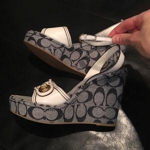 Designer Coach wedge heels